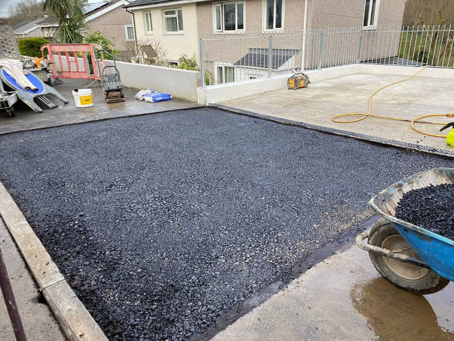 tarmac being laid